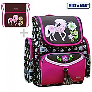 Рюкзак школьный Mike Mar Майк Мар Лошадка 1074-ММ-148 + мешок для обуви + пенал