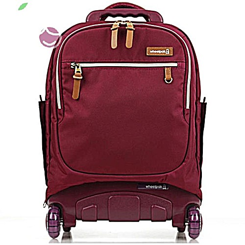 Школьный рюкзак на колесах для девочки - ранец Wheelpak Classic BORDO - арт. WLP3200 (для 2-4 класс, 21 литр)