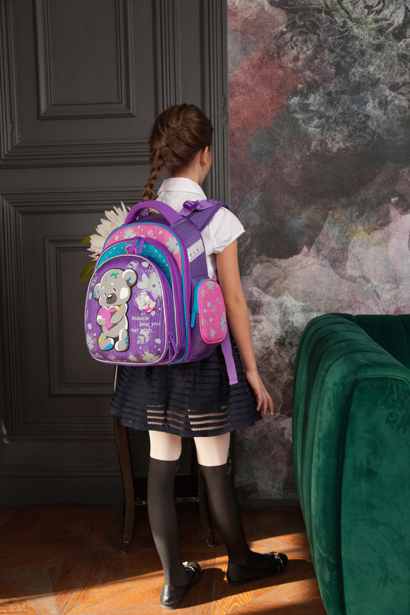 Школьный рюкзак Hummingbird TK55 официальный с мешком для обуви, - фото 6